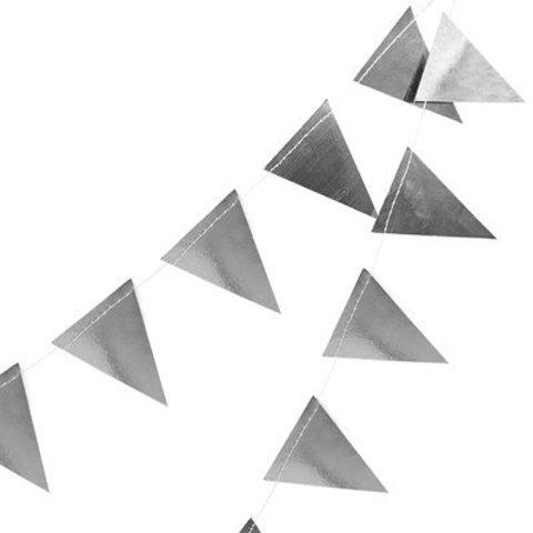 Гирлянда-вымп фольгиров серебро 10м/G
