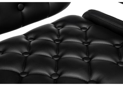 Барный стул Shiny черный 58*58*92 Хромированный металл /Черный