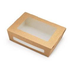 Коробка крафт с окошком 190х150х50 мм