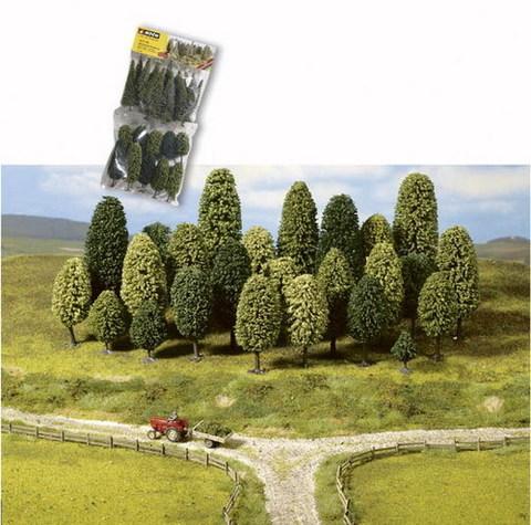 Лиственные деревья - 10 шт, (6,5-11 см)