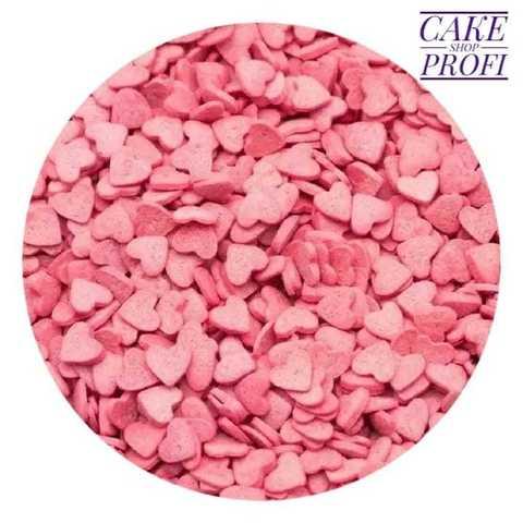 Посыпка Сердца розовые мини 6мм, 25г.