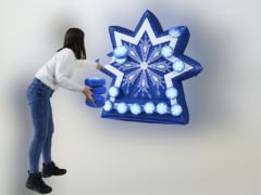 Надувной дартс Снежинка