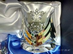 Подарочный набор стаканов для виски «Власть», Триколор, фото 5