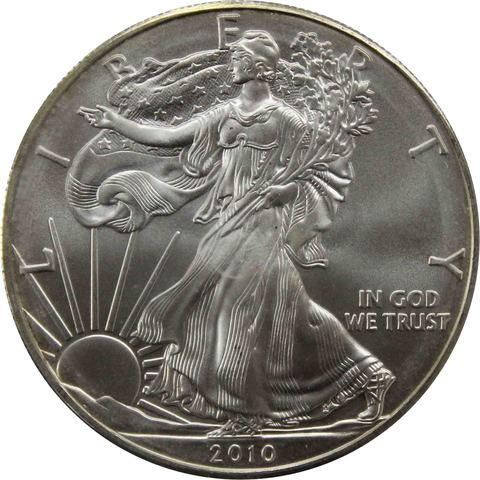 """1 доллар 2010 год США """"Шагающая свобода"""""""
