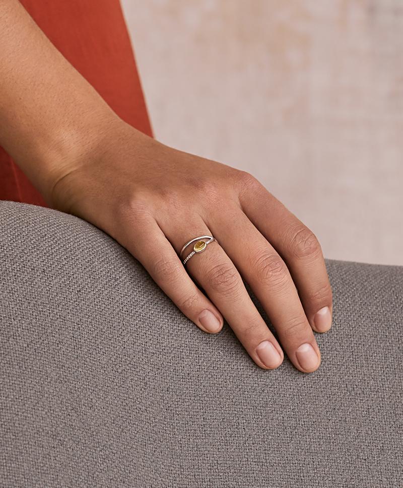 Серебряное кольцо Modernism