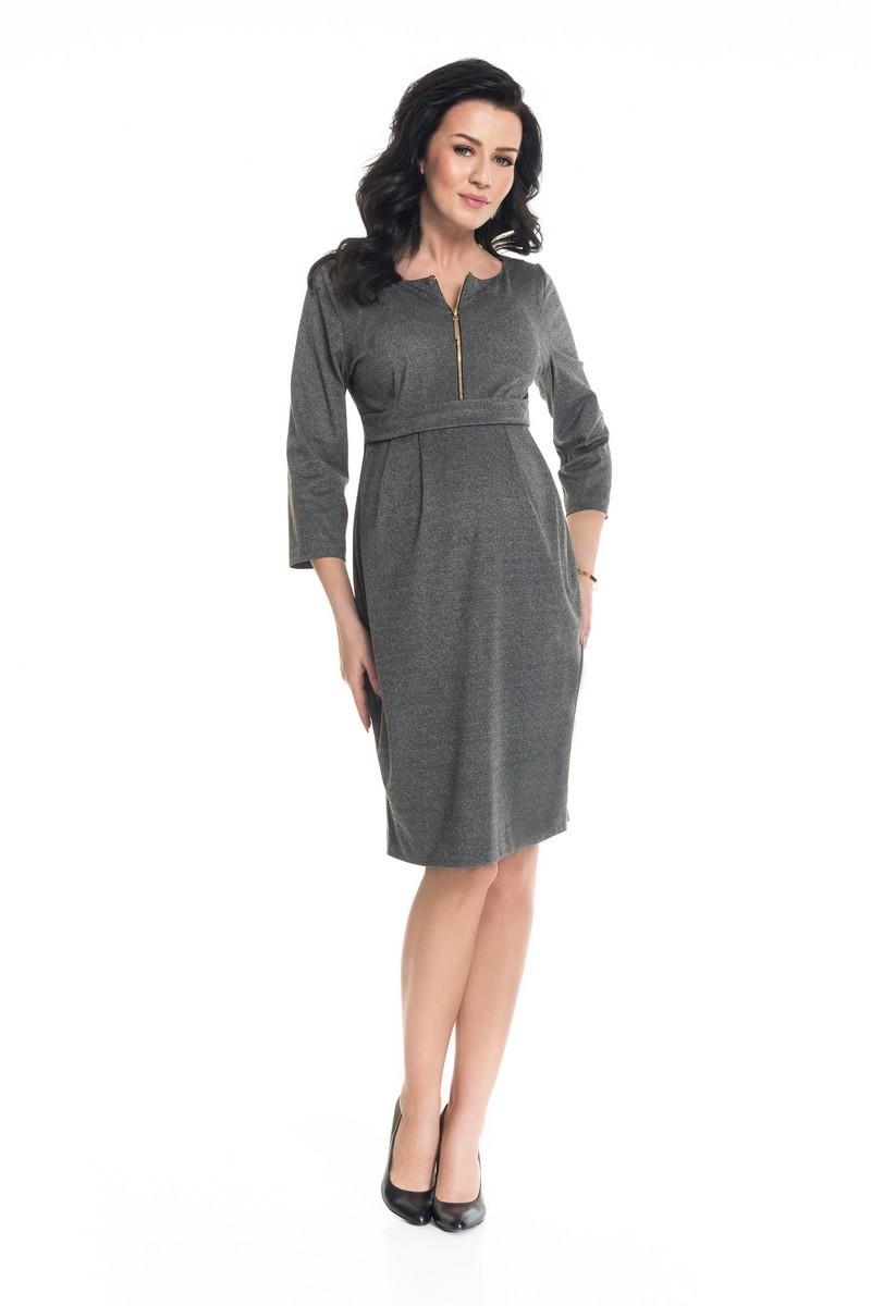 Платье для беременных 08878 серый