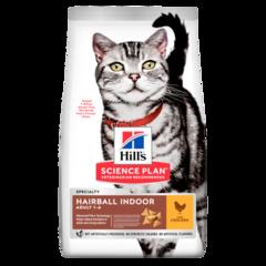 Корм для кошек Hill`s Science Plan Adult Hairball Control, вывод шерсти из желудка, с курицей