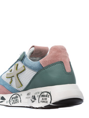 Комбинированные кроссовки Premiata Zac-Zac 3733 на шнуровке