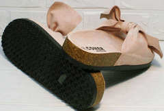 Летние сандалии женские на плоской подошве Comer SAR-15 Pink.