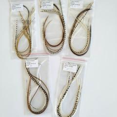 Перья петуха в волосы 30-35 см. 6 шт. (натуральный)
