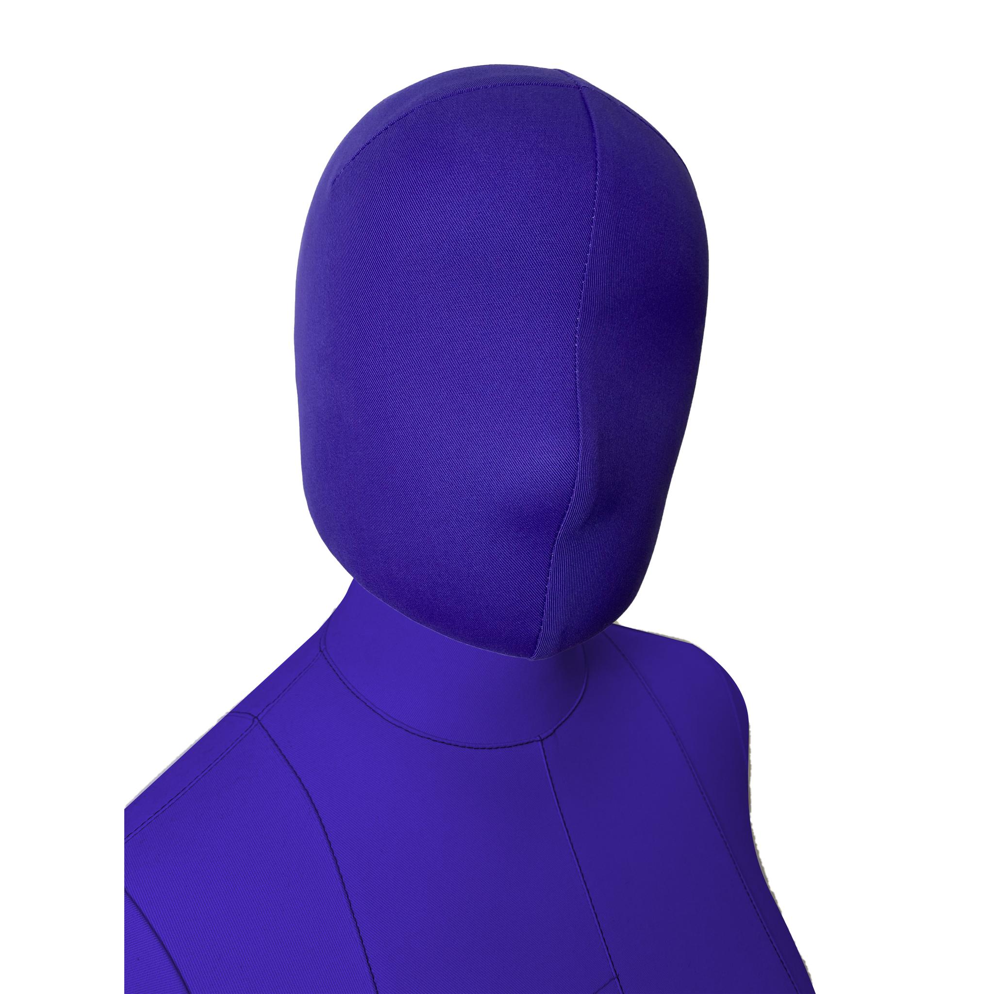Голова 57см к манекену Моника Арт на магните, фиолетовая