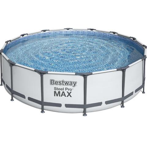 Каркасный бассейн Bestway 56950 (427х107 см) с картриджным фильтром, тентом и лестницей / 22514