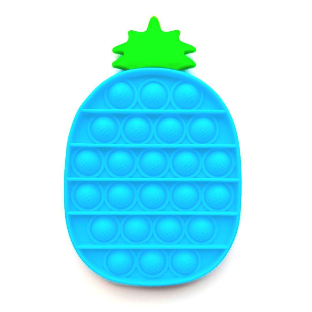 Пупырка вечная антистресс pop it (поп ит) голубой ананас