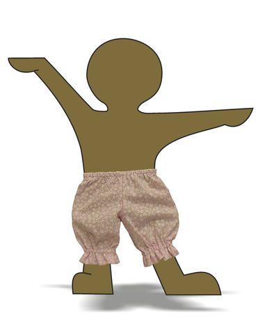 Панталоны - Демонстрационный образец. Одежда для кукол, пупсов и мягких игрушек.