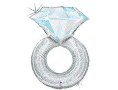 Б Фигура, Кольцо с бриллиантом голография, 38