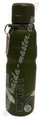 Бутылка спортивная 0,75 л с карабином из нержавеющей стали