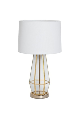 22-88243 Лампа настольная плафон белый d35*72см