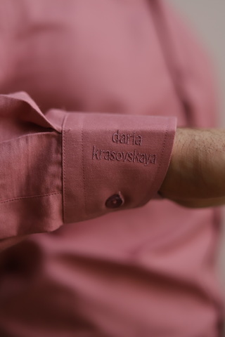 Рубашка розовая