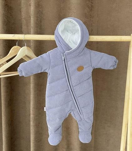 Комбинезон демисезонный детский Вельвет серый