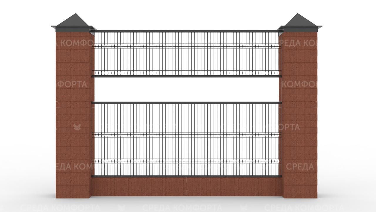 Забор 3Д ZBR0070