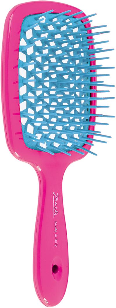 Расческа большая Janeke Superbrush двухцветная (FUX - фуксия)