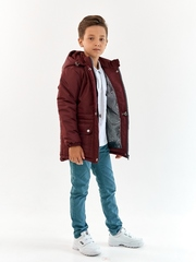 Парка зимняя для мальчика Мембрана бордо