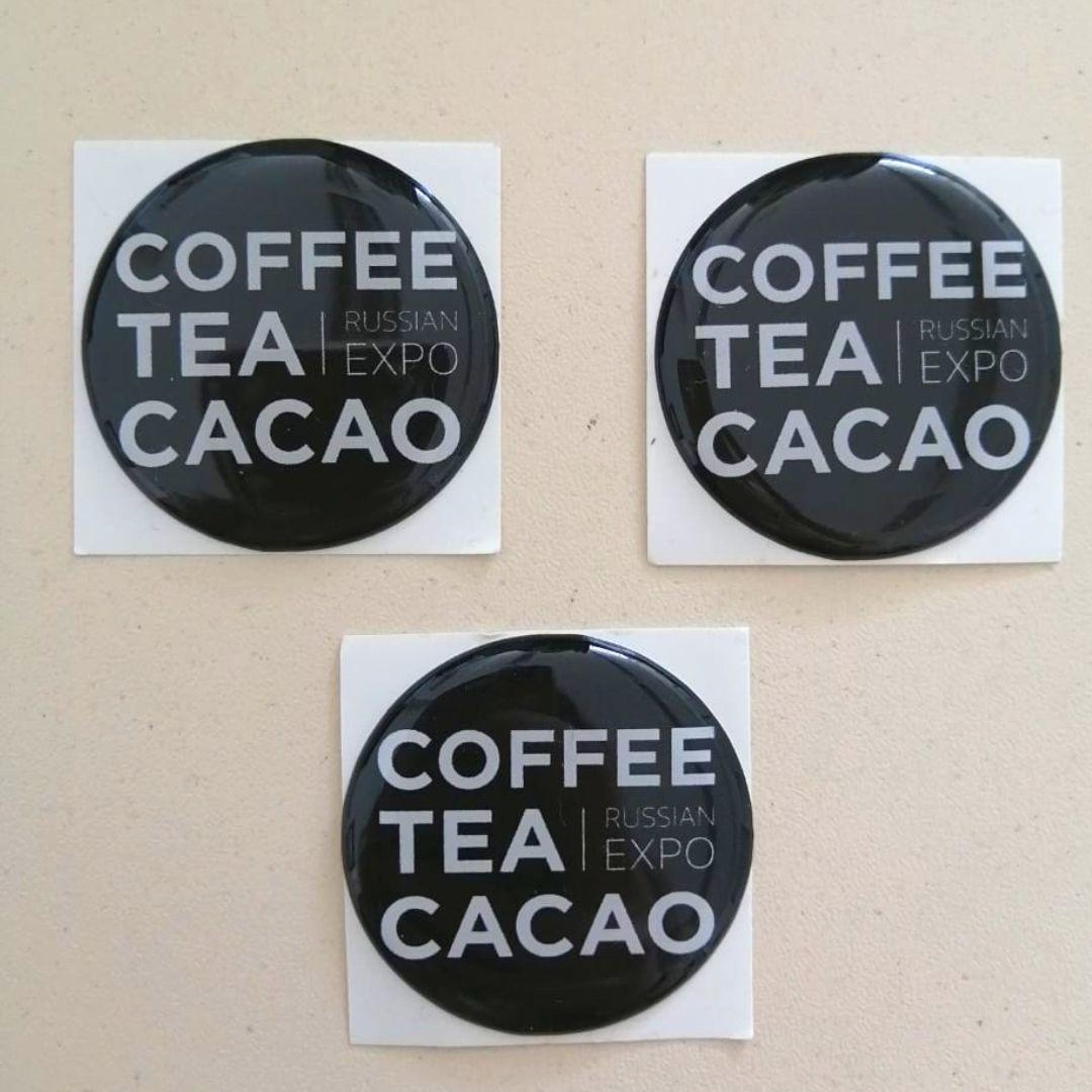 Наклейка Coffee Tea Cacao (со смолой)