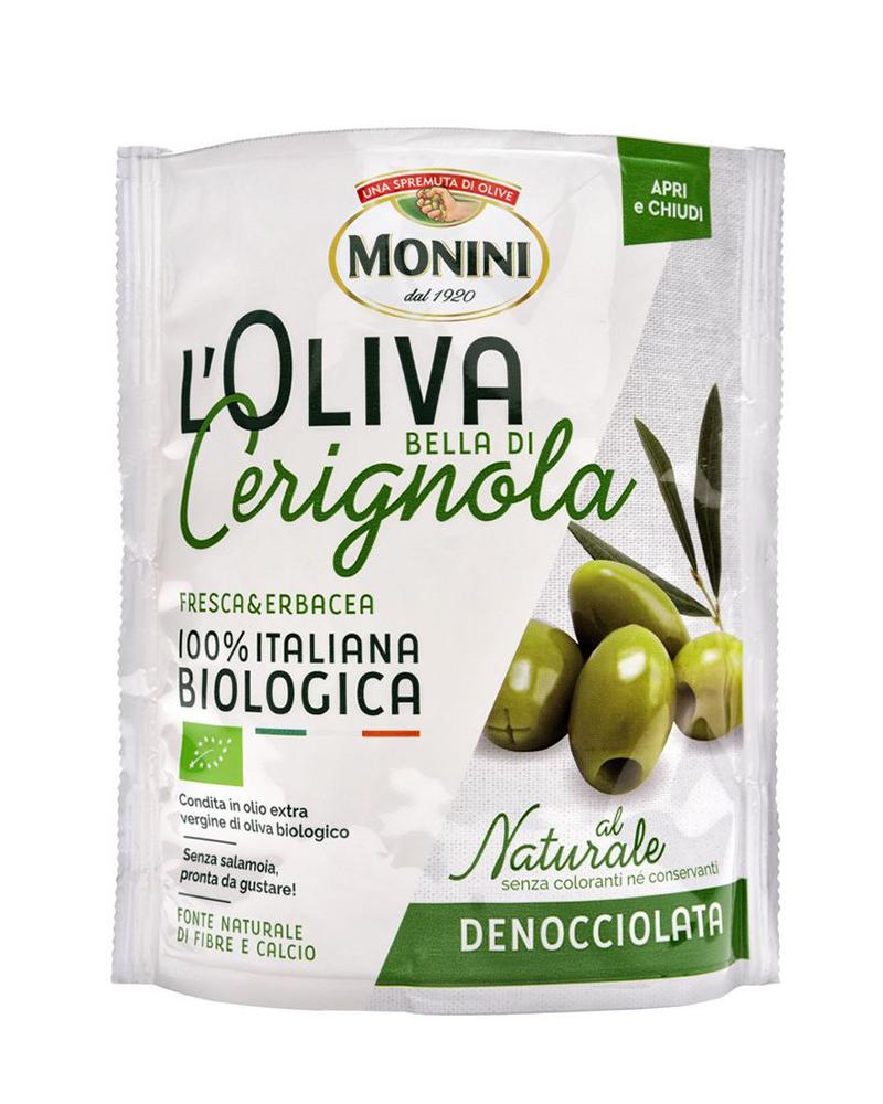 Оливки без косточки Monini БИО Bella di Cerignola