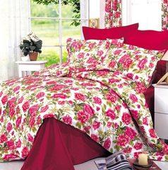 Сатиновое постельное бельё  1,5 спальное Сайлид  В-4