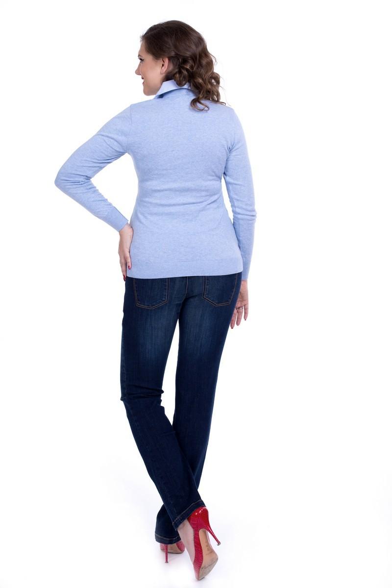 Джемпер-обманка для беременных 01949 синий