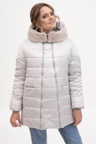 Куртка 2 в 1 для беременных  11187 светло-серый