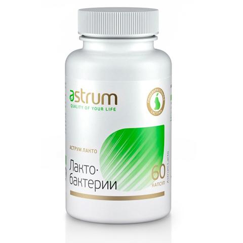 Astrum БАДы: Биодобавка Аструм Лакто (Лактобактерии), 60капсул
