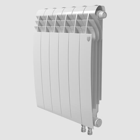 Биметаллический радиатор с правым нижним подключением Royal Thermo Biliner 350 V Bianco Traffico (белый)- 6 секций