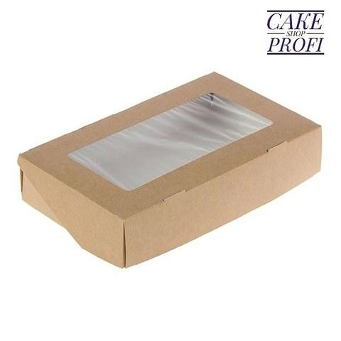 Коробка для сладостей (белый/крафт) 10×8×3.5см (100шт)