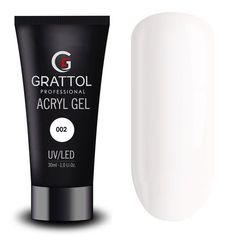 Grattol, Acryl Gel, акригель белый №02, 30 мл