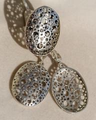 Рокфор А (кольцо + серьги из серебра)