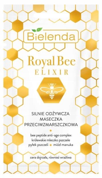 ROYAL BEE ELIXIR Сильно питательная маска для лица против морщин, 8мл