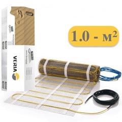 Электрический теплый пол под плитку. Тёплый пол двухжильный мат 150вт 1m2. Veria Quickmat-150. 189B0158