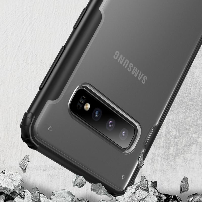 Чехол для Samsung Galaxy S10 прозрачный корпус, серия Ultra Hybrid от Caseport