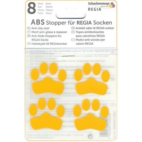 ABS-противоскользящие наклейки Regia для носков желтый (8 шт.)