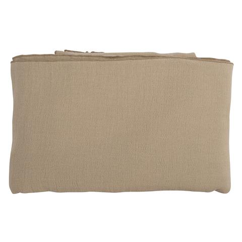 Покрывало легкое из хлопка бежевого цвета с контрастной каймой из коллекции Essential