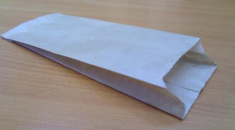 Пакет бумажный (саше) 100х70х230 мм белый (для половинки шаурмы)
