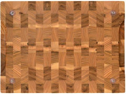 деревянная торцевая разделочная доска из карагача (вяза) 40х30х3 см
