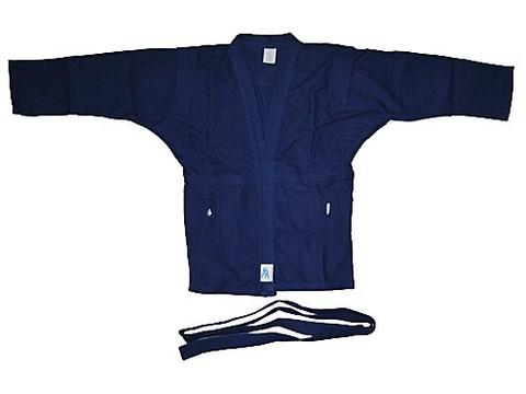 Куртка для самбо. Цвет синий. Размер 56. Состав: 100% хлопок, плотность 550гр./кв.м