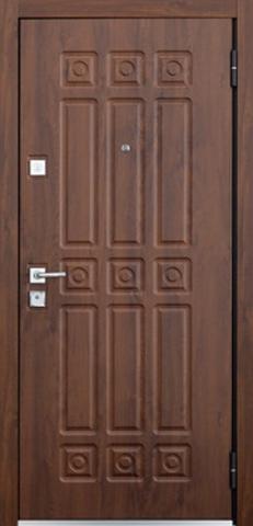 Дверь входная Бульдорс Mastino Novara стальная, орех грецкий, 2 замка