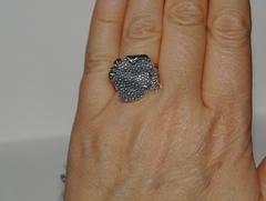 Скаты (кольцо + серьги из серебра)