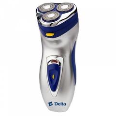 Бритва электрическая DELTA DL-0712 серебристая с синим