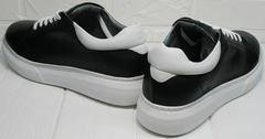 Черные кеды для девушек Wollen P337 K71 BW