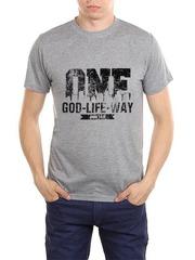 461493-37 футболка мужская, серый меланж