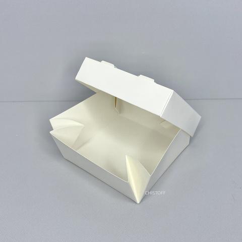 Коробка для суши (крышка+дно) 100х100х55 мм белая